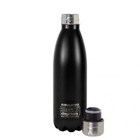360 Degrees Soda aislado 550 ml negro - Botella termo