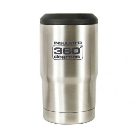 360 Degrees Funda Térmica Cerveza acero - Botella termo