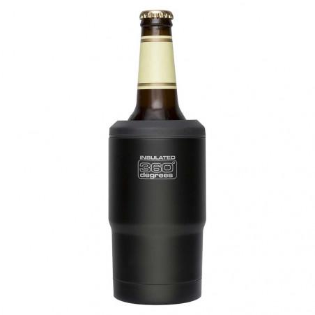 360 Degrees Funda Térmica Cerveza negro - Botella termo