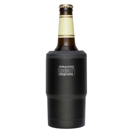 360 Degrees Funda Térmica Cerveza negro - Botella termo
