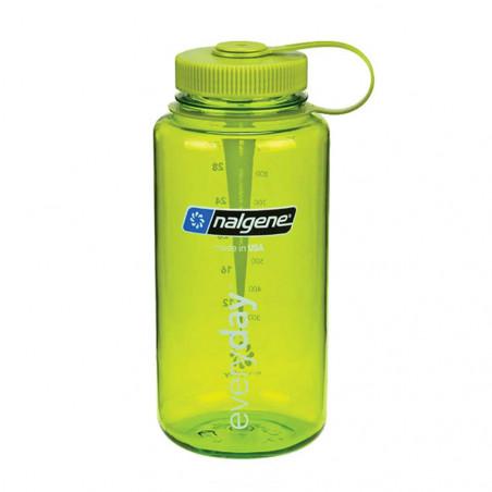 Nalgene Boca Ancha verde tapón verde 1 Litro – Botella cantimplora