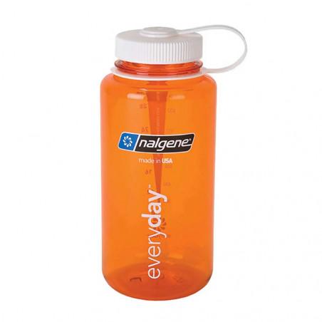 Nalgene Boca Ancha naranja tapón blanco 1 Litro – Botella cantimplora
