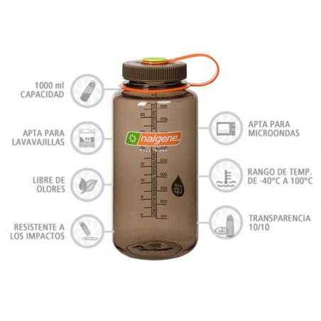 Nalgene Boca Ancha marrón 1 Litro – Botella cantimplora