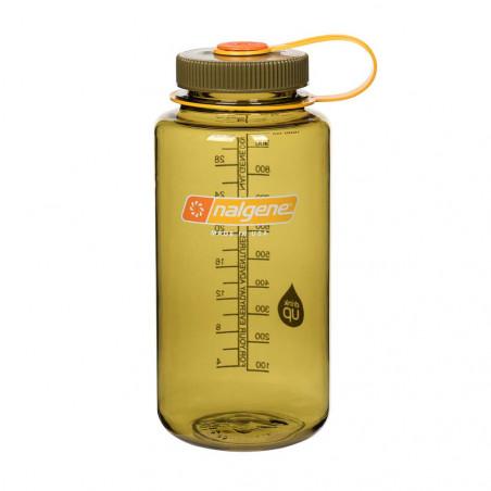 Nalgene Boca Ancha aceituna 1 Litro – Botella cantimplora