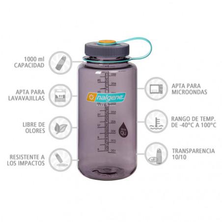 Nalgene Boca Ancha berenjena 1 Litro – Botella cantimplora