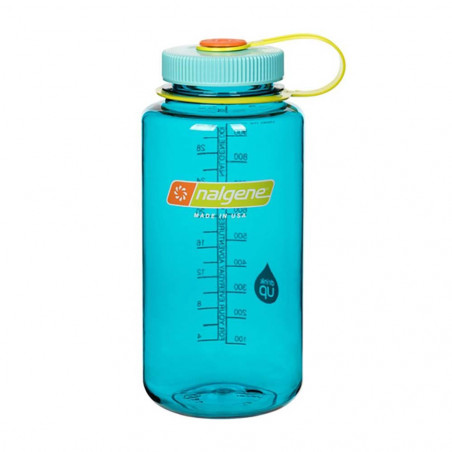 Nalgene Boca Ancha azul cerúleo 1 Litro – Botella cantimplora