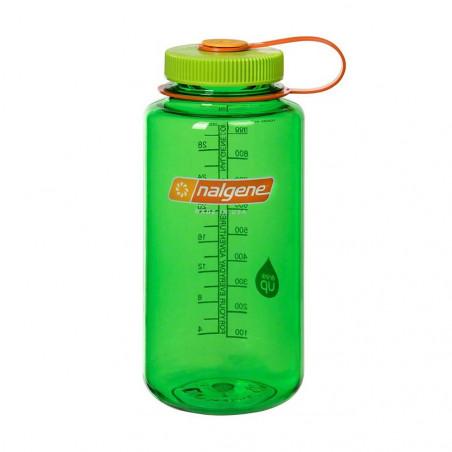 Nalgene Boca Ancha verde tapón verde naranja 1 Litro – Botella cantimplora