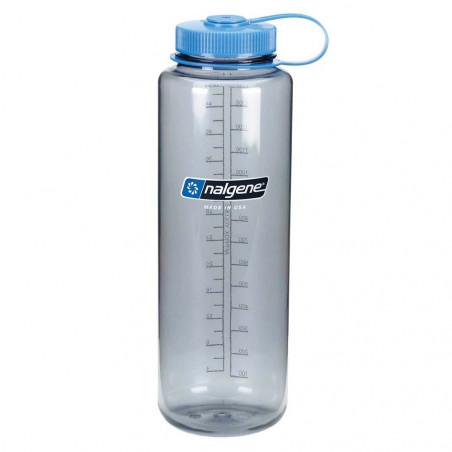 Nalgene Boca Ancha gris tapón azul 1,5 Litros – Botella cantimplora
