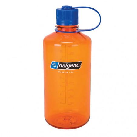 Nalgene Boca Estrecha naranja tapón azul 1 Litro – Botella cantimplora