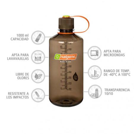 Nalgene Boca Estrecha marrón 1 Litro – Botella cantimplora