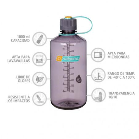 Nalgene Boca Estrecha berenjena 1 Litro – Botella cantimplora