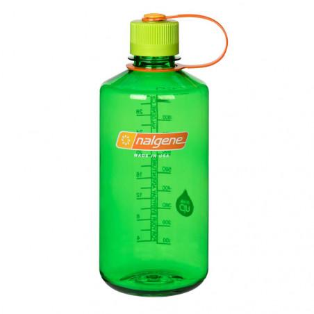 Nalgene Boca Estrecha verde tapón verde naranja 1 Litro – Botella cantimplora