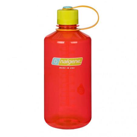 Nalgene Boca Estrecha rojo tapón verde 1 Litro – Botella cantimplora