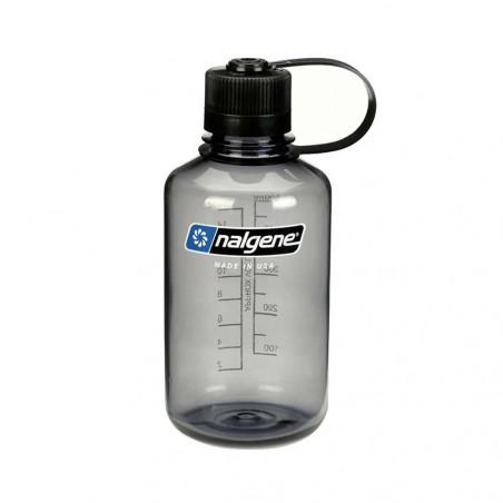Nalgene Boca Estrecha gris tapón negro 500 ml – Botella cantimplora