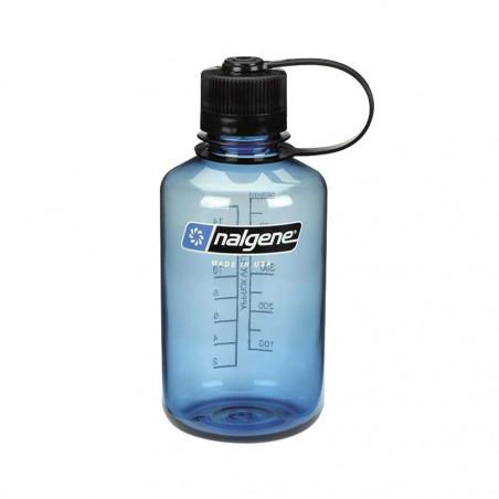 Nalgene Boca Estrecha azul tapón negro 500 ml – Botella cantimplora
