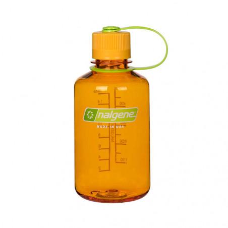 Nalgene Boca Estrecha naranja tapón naranja 500 ml – Botella cantimplora