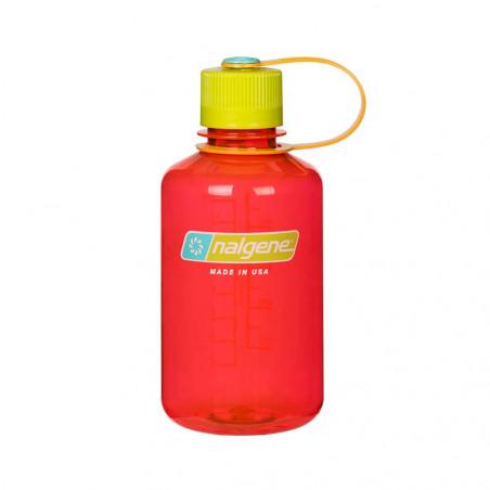 Nalgene Boca Estrecha rojo tapón verde 500 ml – Botella cantimplora