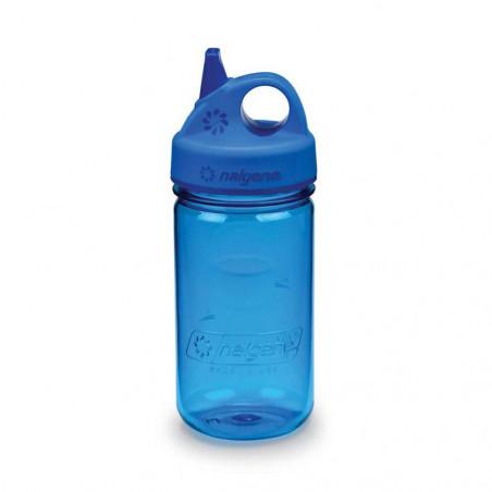 Nalgene Grip'n Gulp azul 375 ml – Botella cantimplora para niños