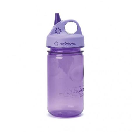 Nalgene Grip'n Gulp lila 375 ml – Botella cantimplora para niños
