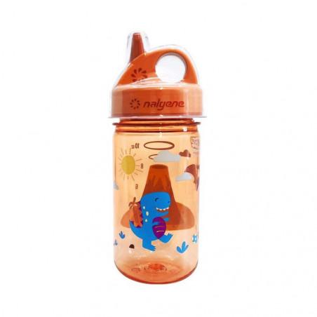 Nalgene Grip'n Gulp dinosaurios 375 ml – Botella cantimplora para niños
