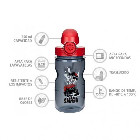 Nalgene OTF Kids Coches 350 ml – Botella cantimplora para niños