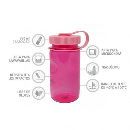 Nalgene Minigrip rosa 350 ml – Botella cantimplora para niños