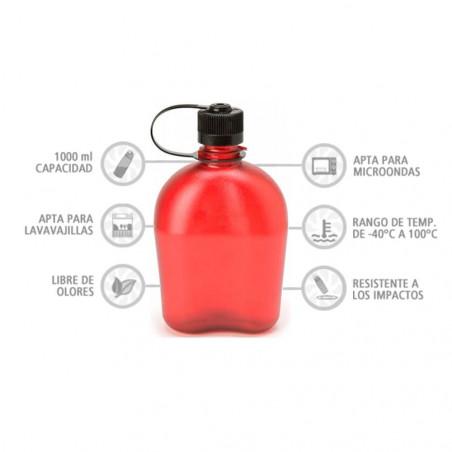 Nalgene Oasis roja 1 litro – Botella cantimplora