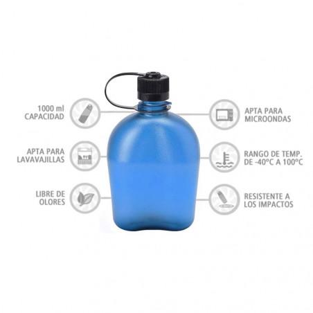 Nalgene Oasis azul 1 litro – Botella cantimplora