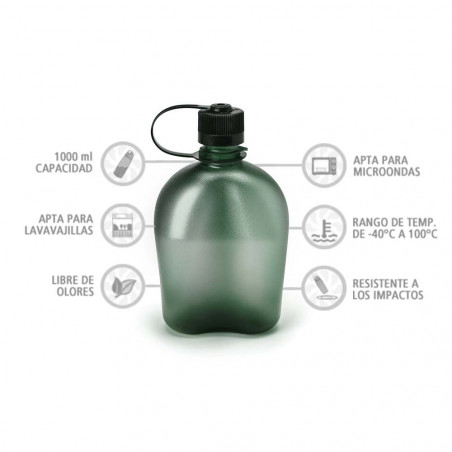 Nalgene Oasis verde 1 litro – Botella cantimplora