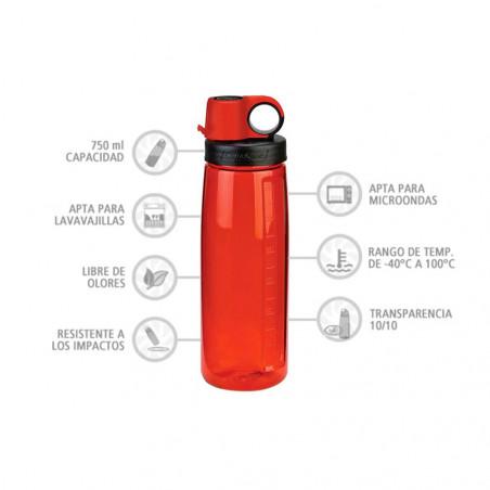 Nalgene OTG roja 750 ml – Botella para deporte y trabajo