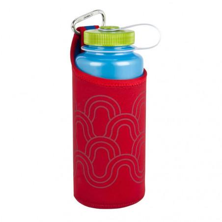 Nalgene Neopreno con Mosquetón rojo - Funda para botella