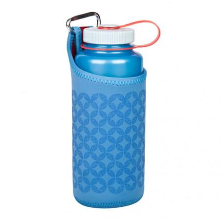 Nalgene Neopreno con Mosquetón azul - Funda para botella