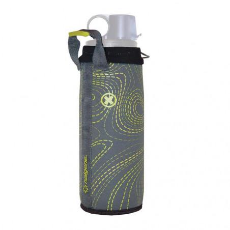 Nalgene Neopreno OTF / OTG gris y verde - Funda para botella