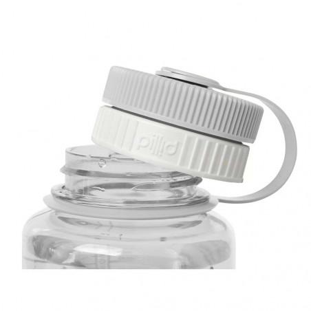 Nalgene Pillid blanco - Tapón pastillero para botella
