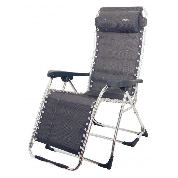 Tumbona crespo gran relax elastica gris oscuro camping sport - Duchas portatiles camping ...
