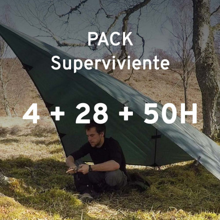 Pack PLAYD SUPERVIVIENTE - Curso supervivencia 4H + Simulaciones 28H + 50H