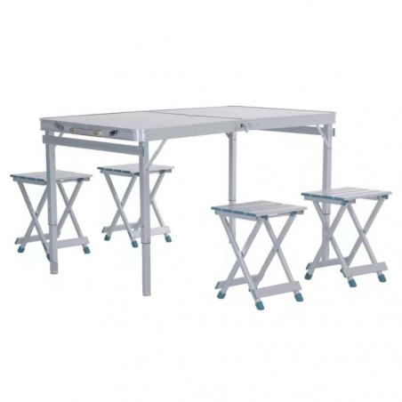 Mesa de camping plegable HOSA BRUNCH MALETA - aluminio