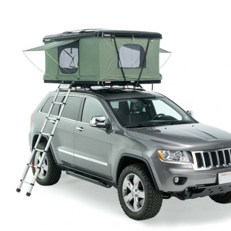 Tepui HyBox 2P verde - Tienda de techo rígida para coche