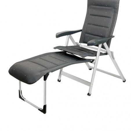 Crespo R-215-DL gris oscuro - Reposapies para sillón plegable acolchado deluxe