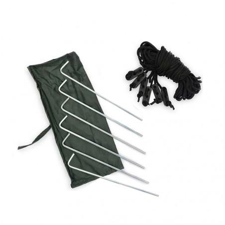DD Hammocks Pack 6 piquetas + 6 vientos
