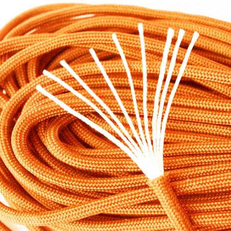 Cordón North Star Paracord 550 de 9 hebras – 7 metros naranja