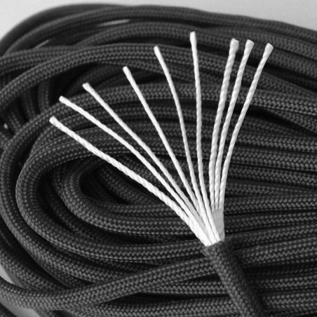Cordón North Star Paracord 550 de 9 hebras – 7 metros negro