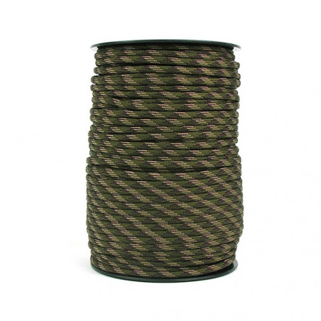 Rollo de Cordón North Star Paracord 550 de 9 hebras – 30 metros negro
