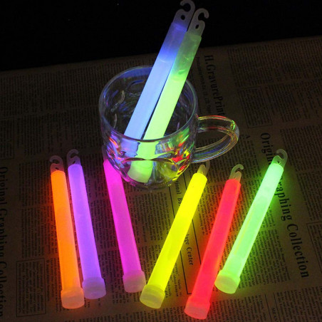North Star Emergency Glow Stick - Pack 5 barras de luz amarillas