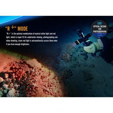Fenix SD11 Submarinismo y Fotografía - Linterna sumergible