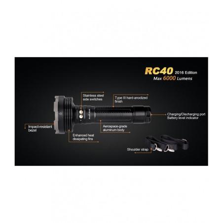 Fenix RC40 Recargable Super Luminosa - Linterna de búsqueda y rescate