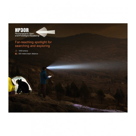 Fenix HP30R Profesional Alto Rendimiento black - Linterna frontal