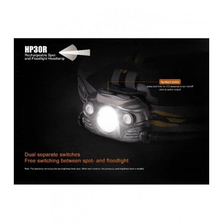 Fenix HM65R Recargable Doble Luz Magnesio - Linterna frontal