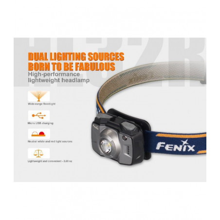 Fenix HL32R Recargable Ligera Trail Running - Linterna frontal