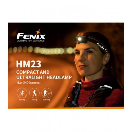 Fenix HM23 Fiable Ligera - Linterna frontal